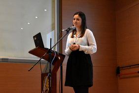 Catherine Fonseca, de la Oficina de Internacionalización de Colciencias (Foto: Vicerrectoría de Investigación)
