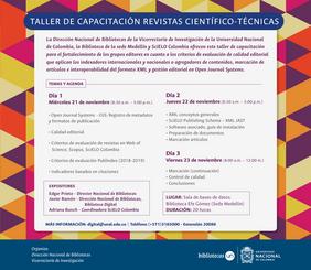 Taller de capacitación revistas científico-técnicas (sede Medellín)