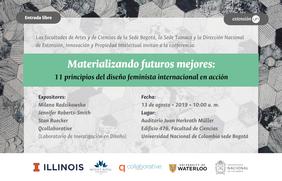 Conferencia «Materializando futuros mejores: once principios del diseño feminista internacional en acción» (Milena Radzikowska, Jennifer Roberts-Smith, Stan Ruecker y Laboratorio de Investigación en Diseño 'qcollaborative')
