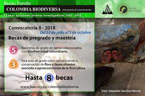II Convocatoria 2018 Becas Colombia Biodiversa