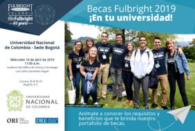 Seminario informativo sobre las Becas Fulbright de posgrado en Estados Unidos para colombianos 2019 en la Universidad Nacional de Colombia sede Bogotá