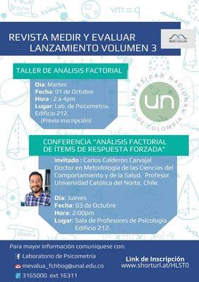 Lanzamiento del volumen 3 de la revista 'Medir y Evaluar' (Laboratorio de Psicometría, UNAL sede Bogotá)