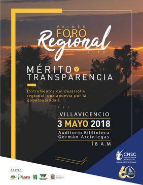 Foro regional «Mérito y Transparencia: instrumentos del desarrollo regional, una apuesta por la gobernabilidad»