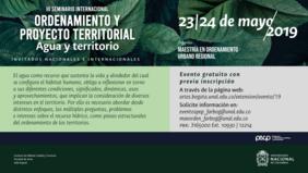 III Seminario Internacional «Ordenamiento y Proyecto Territorial. Agua y territorio»