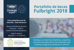 Presentación portafolio Fulbright en la Sede Amazonia
