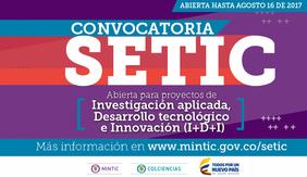 Convocatoria 789 (cofinanciar proyectos de investigación aplicada, desarrollo tecnológico e innovación con TIC en sectores estratégicos orientados al mejoramiento de la productividad y competitividad del sector TIC) de Colciencias