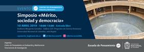 Simposio «Mérito, sociedad y democracia» (Centro de Pensamiento en Evaluación y Meritocracia)