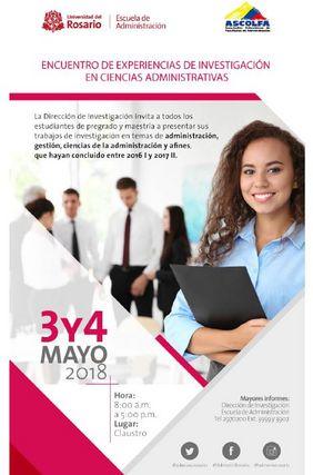 1er. Encuentro internacional de experiencias de investigación en Ciencias Administrativas