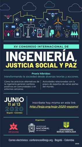 XV ESJP 2020 - Ingeniería, Justicia Social y Paz
