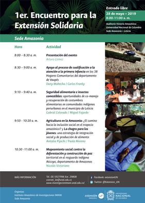 1er. Encuentro para la Extensión Solidaria (Universidad Nacional de Colombia sede Amazonia)