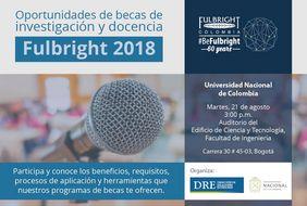 Charla sobre oportunidades de becas de investigación y docencia en Estados Unidos (Fulbright 2018)