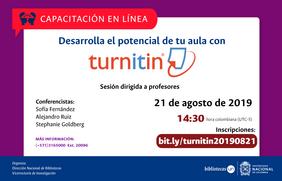 Seminario web «Desarrolla el potencial de tu aula con Turnitin»