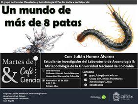 [Martes de café y ciencia] «Un mundo de más de ocho patas» (Julián Homez Álvarez)