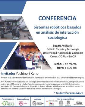Conferencia «Sistemas robóticos basados en análisis de interacción sociológica» (Yoshinori Kuno)