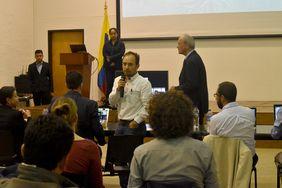Fabián López Vallejo, de la Facultad de Ciencias de la U. N. sede Bogotá (Foto: Laura Berrío)