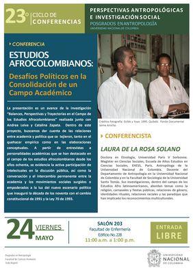 Conferencia «Estudios afrocolombianos: desafíos políticos en la consolidación de un campo académico»