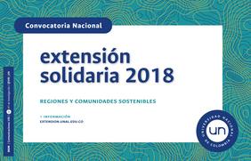 Convocatoria Nacional de Extensión Solidaria 2018 «Regiones y Comunidades Sostenibles»