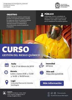 Curso de gestión del riesgo químico (diciembre 2018)