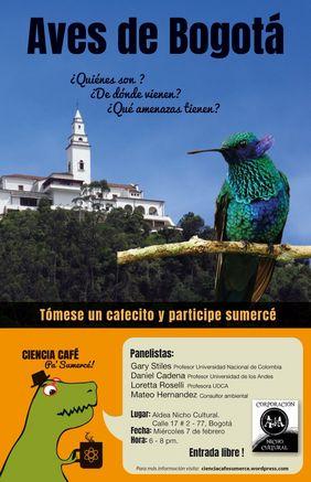 Charla «Aves de Bogotá: ¿quiénes son? ¿de dónde vienen? ¿qué amenazas tienen?»