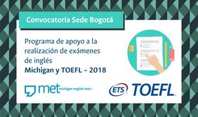 Programa de apoyo a la realización de exámenes de inglés Michigan y TOEFL 2018