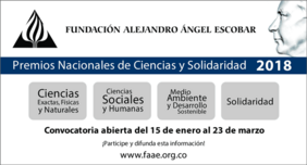 Convocatoria Premios Alejandro Ángel Escobar 2018 (Ciencias y Solidaridad)