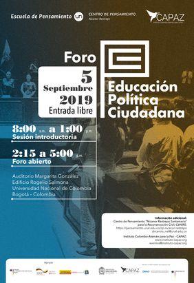 Foro «Educación Política Ciudadana en Colombia»