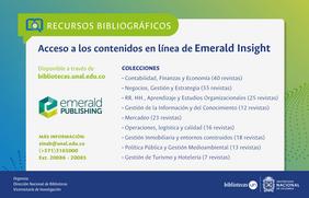 Novedades recursos bibliográficos: Emerald Insight