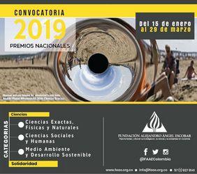 Convocatoria Premios Alejandro Ángel Escobar 2019 (Ciencias y Solidaridad)