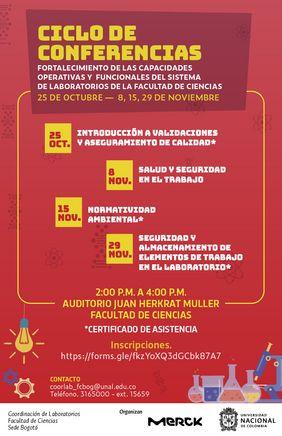 Ciclo de conferencias «Fortalecimiento de las capacidades operativas y funcionales del Sistema de Laboratorios de la Facultad de Ciencias»