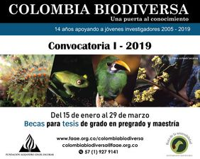 I Convocatoria 2019 Becas Colombia Biodiversa