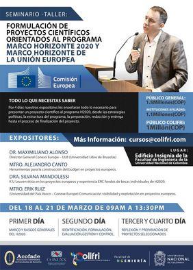Seminario-taller «Formulación de proyectos científicos orientados al programa Horizonte 2020 y Marco Horizonte de la Unión Europea» (COLIFRI)
