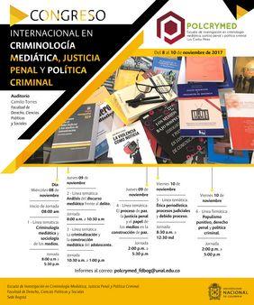 I Congreso Internacional en Criminología Mediática, Justicia Penal y Política Criminal (CIMJUSPE 2017)