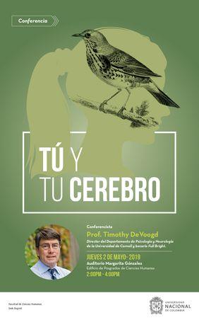 Conferencia «Tú y tu cerebro» (Timothy J. DeVoogd)