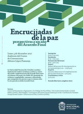 Encrucijadas de la paz: perspectivas a un año del Acuerdo Final (Centro de Pensamiento y Seguimiento a los Diálogos de Paz)