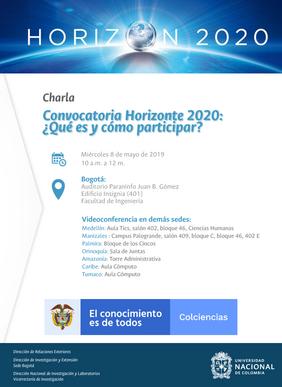 Conferencia «Convocatoria Horizonte 2020: ¿qué es y cómo participar?»