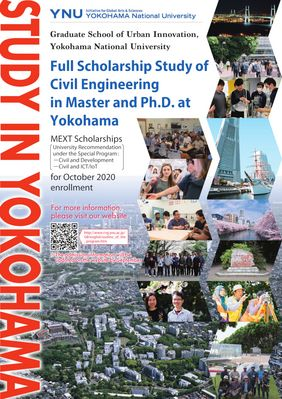 Full Scholarship for the Study of Civil Engineering in Master and Ph.D. at Yokohama National University, October 2020