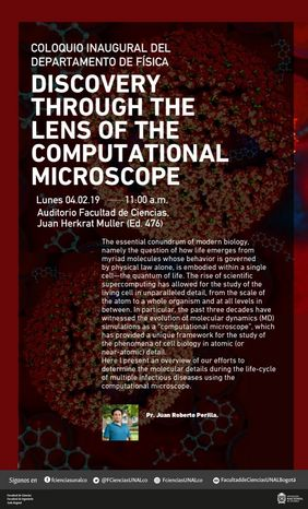 «Discovery through the lens of the computational microscope» (Juan Roberto Perilla)