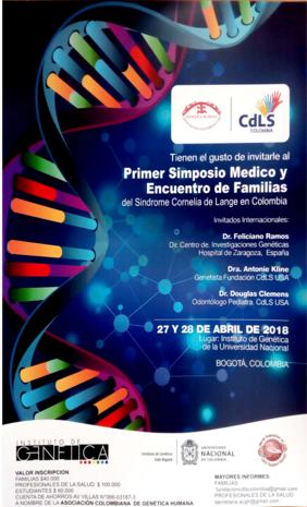 Primer simposio médico y encuentro de familias del síndrome Cornelia de Lange en Colombia