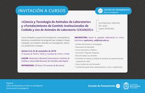 Cursos «Ciencia y Tecnología de Animales de Laboratorio» y «Fortalecimiento de Comités Institucionales de Cuidado y Uso de Animales de Laboratorio (CICUALES)»
