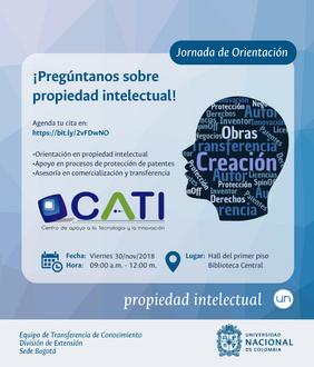Jornada de orientación «¡Pregúntenos sobre propiedad intelectual!» (noviembre 2018)