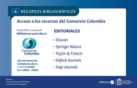 Novedades recursos bibliográficos: Consorcio Colombia