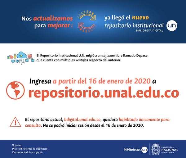 Nuevo repositorio institucional UNAL