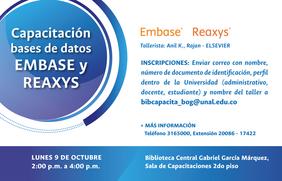 Invitación capacitación bases de datos bibliográficas Embase y Reaxys (octubre 2017)