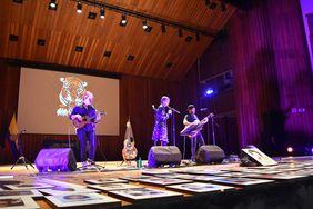 Presentación de Andrea Echeverri Arias, cantante de la banda Aterciopelados (Foto: Aura Flechas)