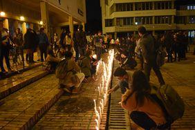 Velatón por las víctimas en la Plaza Che Guevara (Foto: Aura Flechas)