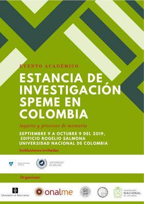 I Foro Colombiano «Voces y lugares de las memorias: caminos hacia la construcción de paz»