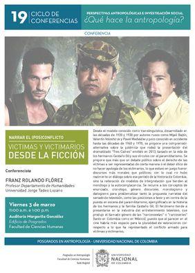 Afiche que promueve la conferencia