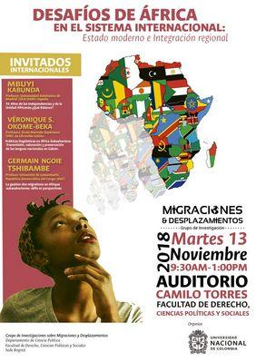Evento «Desafíos de África en el sistema internacional: Estado moderno e integración regional»