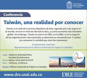 Conferencia «Taiwán, una realidad por conocer» (José Han)