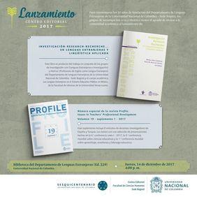 Lanzamientos 20 años de fundación del Departamento de Lenguas Extranjeras (libro 'Investigación-Research-Recherche... en lenguas extranjeras y lingüística aplicada' y número especial de 'PROFILE')